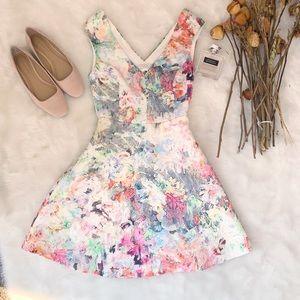 Zara Floral Mini Dress EUC